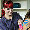 Physiotherapie am Therapiezentrum am Diak - Kinesiotaping