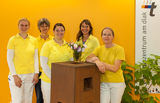 Unser Ergotherapie Team im therapiezentrum am diak