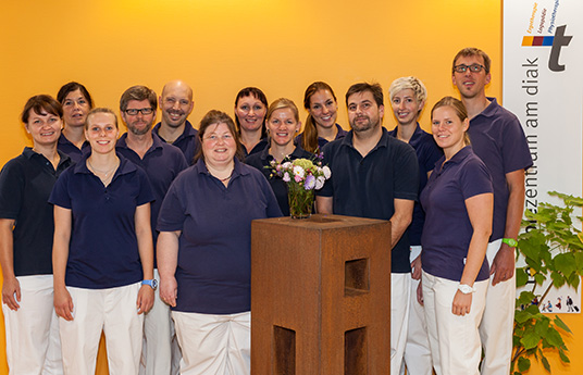 Unser Physiotherpie Team im therapiezentrum am diak